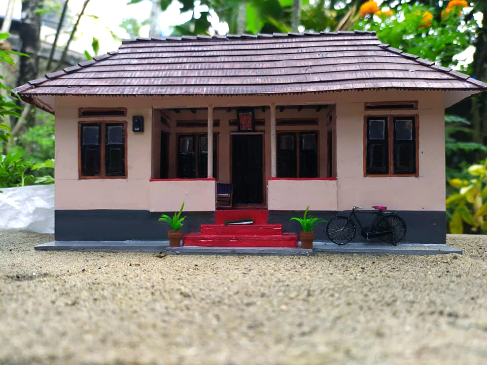 Old kerala home miniature model