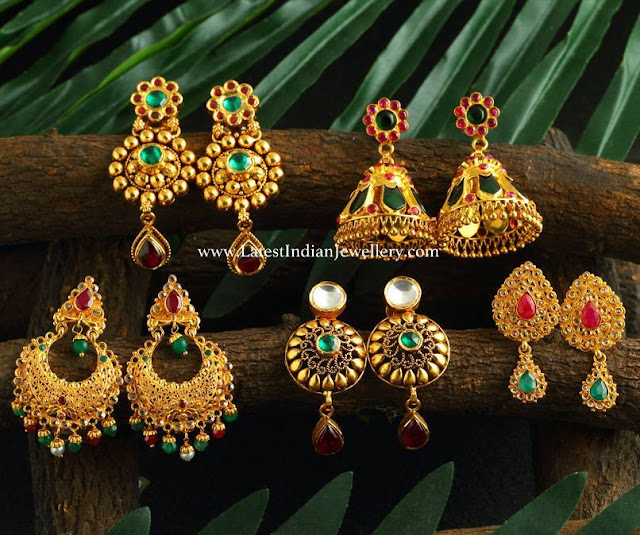 Colorful Gold Earring Collection