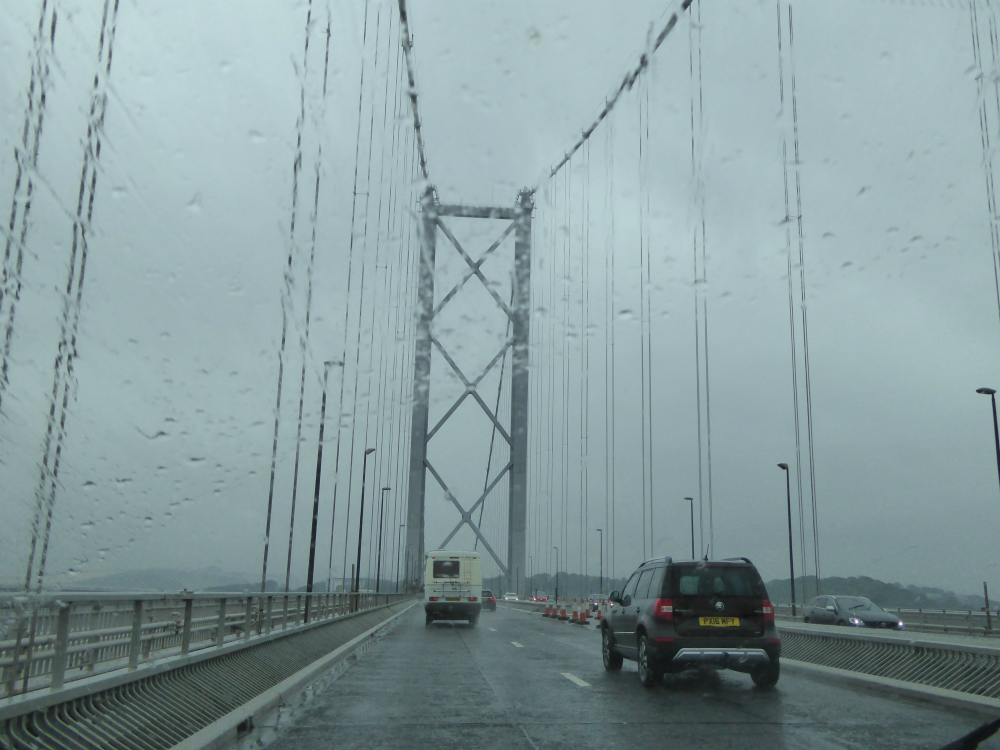 Rainy Forth Road Bridge
