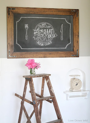 How to Make a Rustic Chalkboard