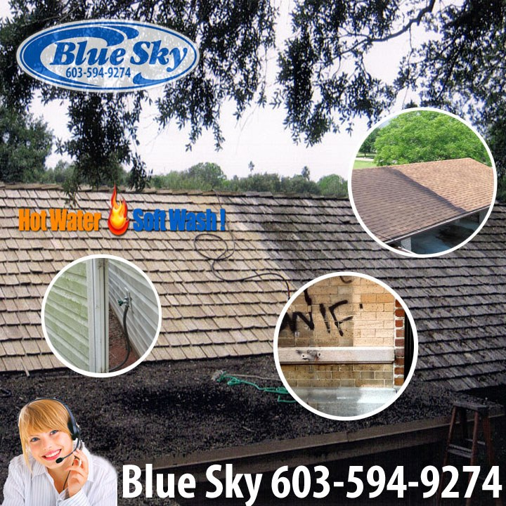 Safely Clean Your Roof In Waltham Ma With Blue Sky