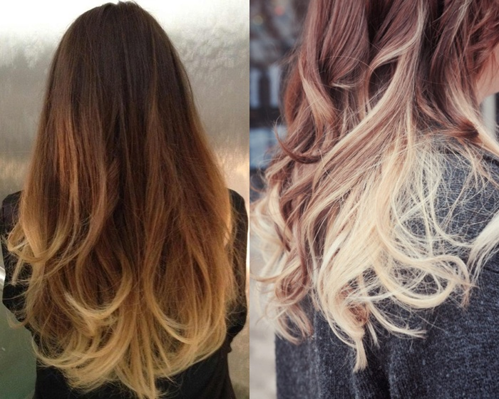 leichter ombre look