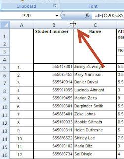 Change Excel column width