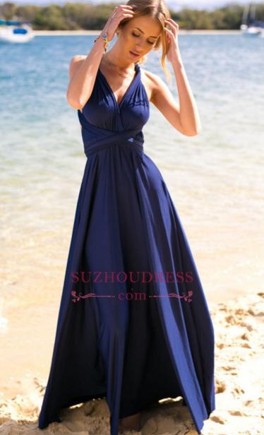 5169d17a6f Elegant V-Neck Sleeveless Long Bridesmaid Dress