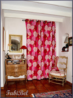 lined curtain printed fabric