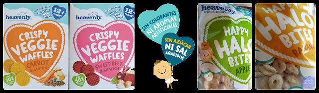 Productos Heavenly tasty organics  CRISPY VEGGIE WAFFLES HAPPY HALO BITES