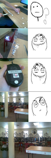 rage comics trollface under mouse, rage comics trollface, rage comics, fffffuuuuu, ffffuuuu, fffuuu, troll computer class, trolling whole class