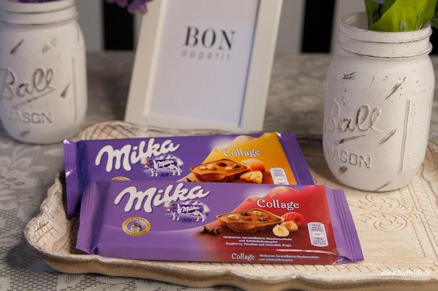Milka - Collage Himbeer und Karamell