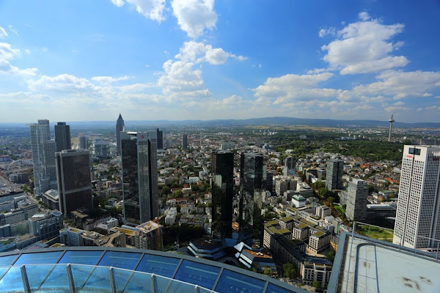 Vista da Main Tower em Frankfurt