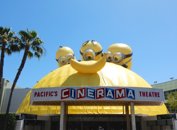 Minions Banana installation Cinerama Dome