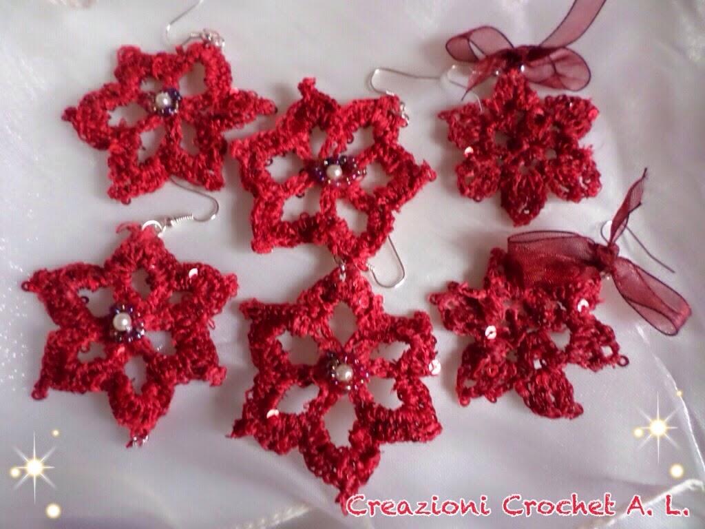 Creazioni Crochet A L Orecchini A Crochet Per Natale