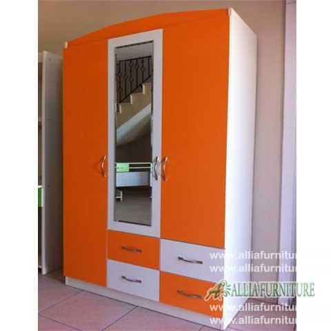 lemari pakaian 3 pintu minimalis aston