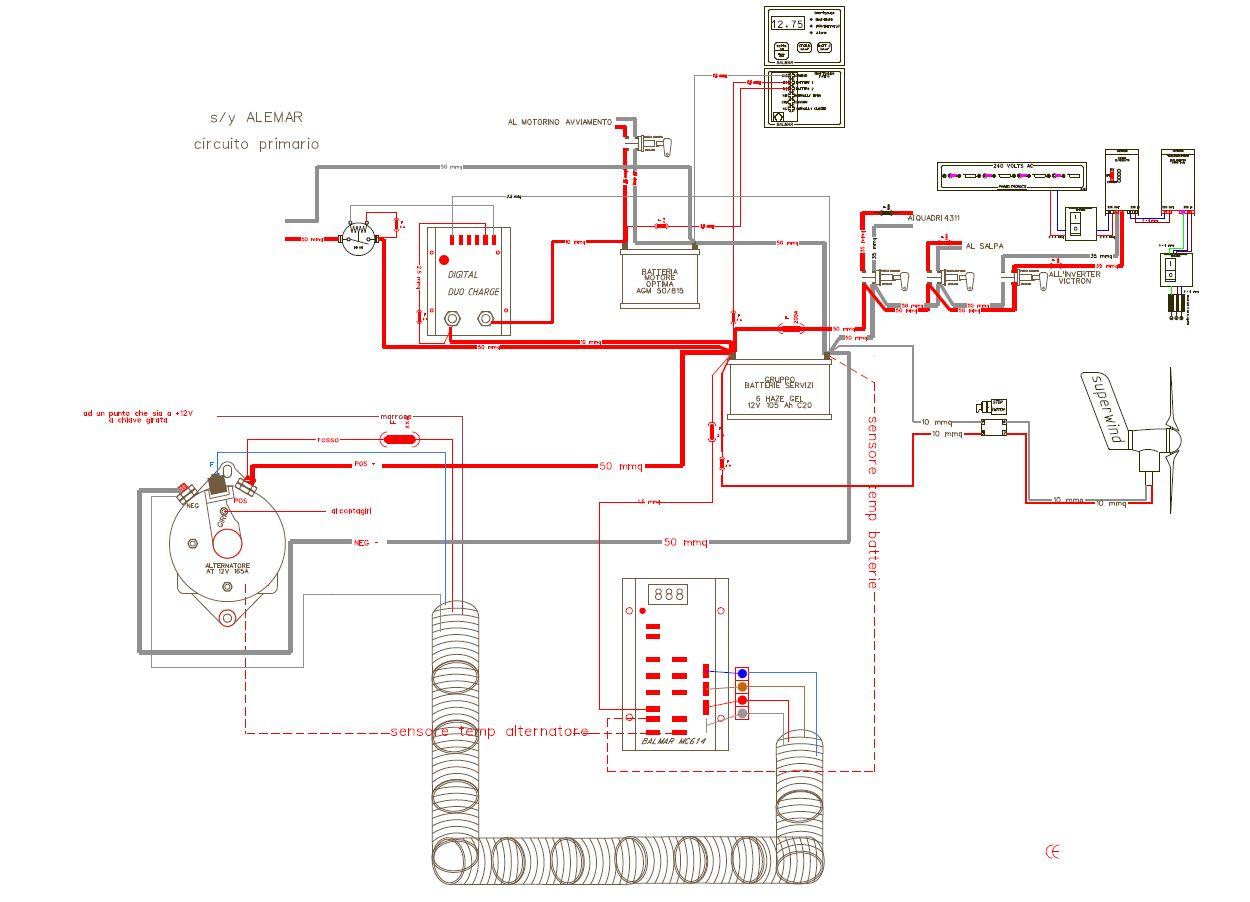 Schema Elettrico Barca : Schema elettrico per barca collegare strumenti nmea e