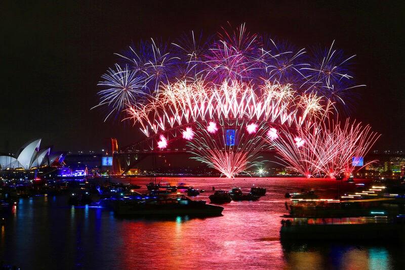 Fuegos artificiales de Fin de Año en Sydney