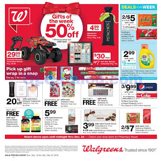 Walgreens Weekly Ad December 16 - 22, 2018
