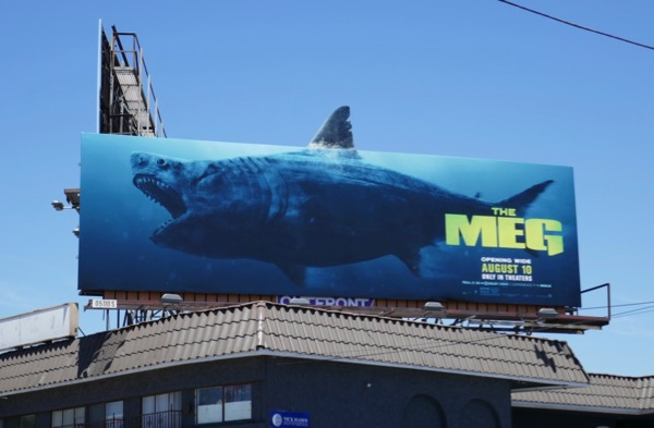 Meg shark extension cut-out billboard