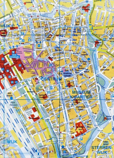 Utrecht center map