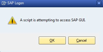 Learned and Shared: SAP Warning Message -
