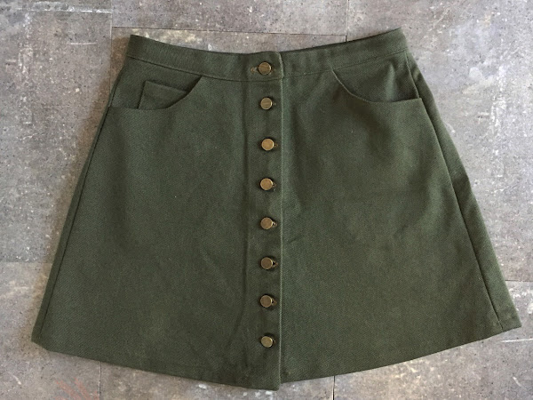 Rosari Skirt in Olive Denim