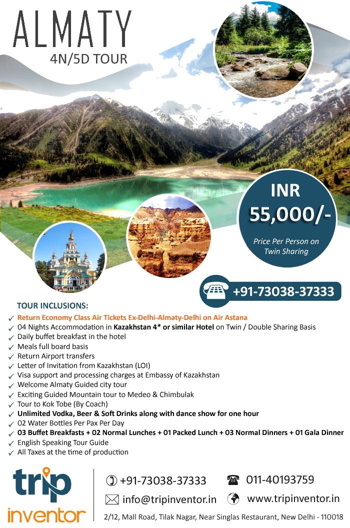 Almaty Tour Package from India, Kazakhstan Tour Package @55000   Trip Inventor