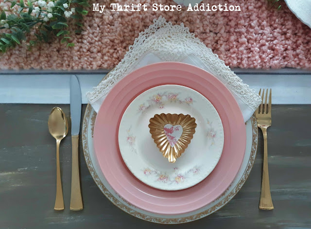 romantic vintage Valentine tablescape
