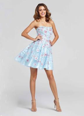 short print prom dress