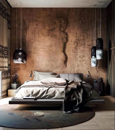 interior kamar tidur minimalis naturalis alami