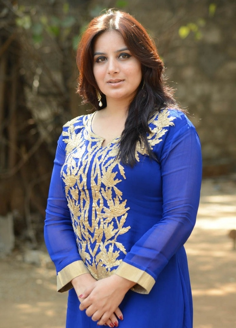 Kannada Actress In Blue Dress Pooja Gandhi
