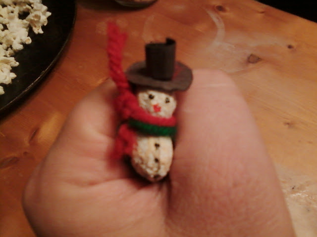 Peanut Snowman Fridge Magnets or Holiday Pins