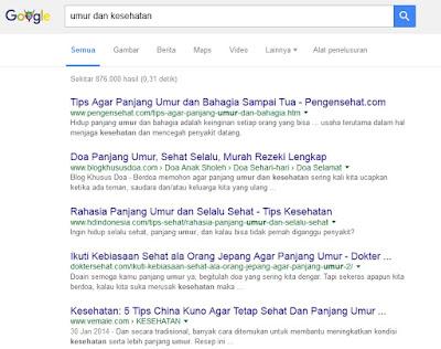 hasil google kesehatan vs usia manusia