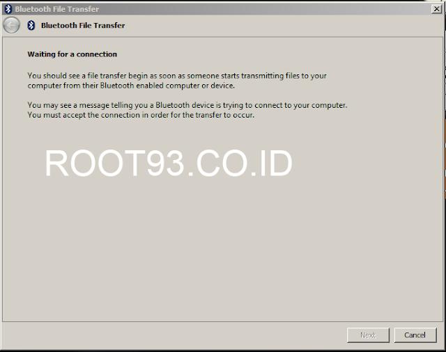 bluetooth dalam mode siap menerima file
