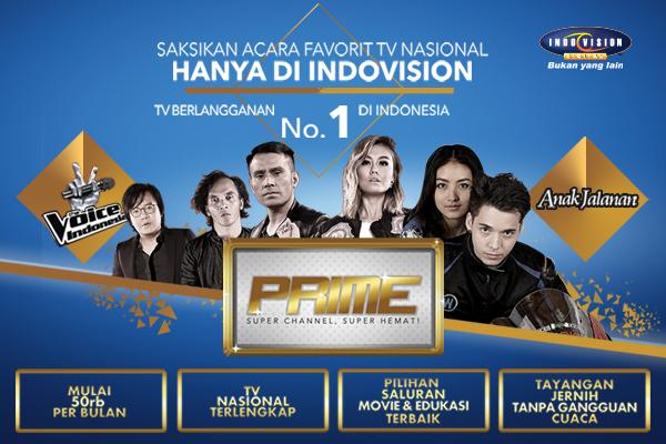 Harga paket dan channel yang ada di dalam Paket Prime Indovision.