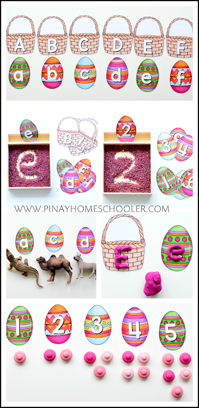 Easter Eggs Letters and Number Cards
