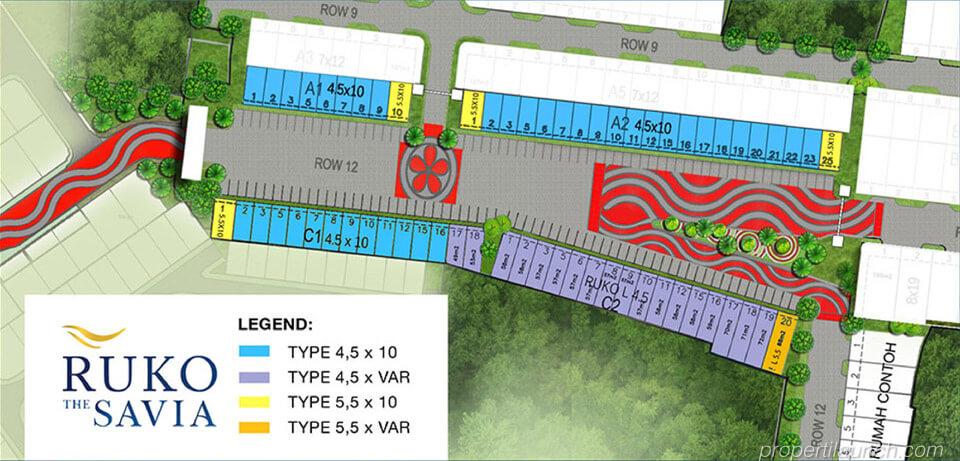 Site plan ruko Savia BSD