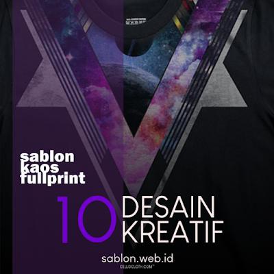 10 Ide Kreatif untuk Desain Kaos Distro Full Print