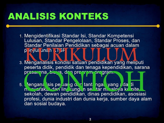 Download JUKNIS Contoh Analisis Konteks KURIKULUM