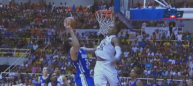 Justin Brownlee with the MONSTER Block on Christian Standhardinger (VIDEO)