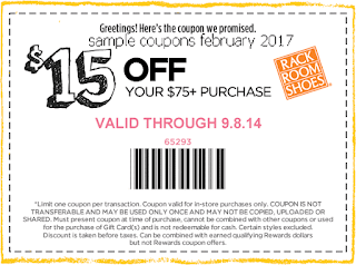 Rack Room Shoes coupons february 2017