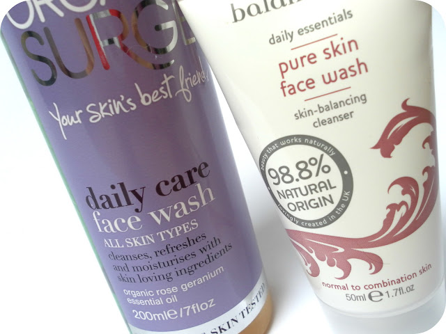 A picture of Organic Surge Daily Care Face Wash and Balance Me Pure Skin Face Wash