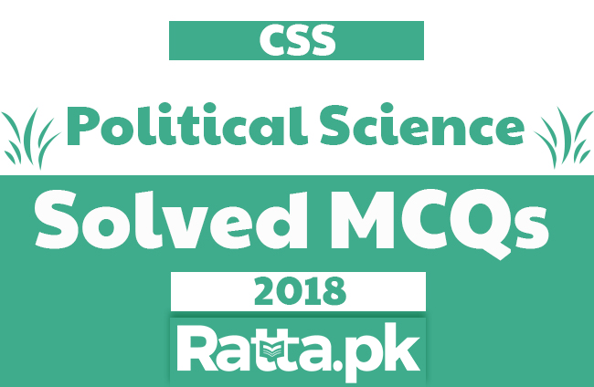 solved mcqs of political science past papers