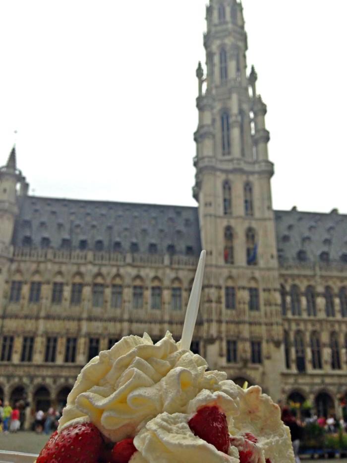 grand-place, bruselas, gofre