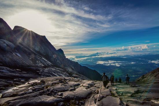 Way down from the peak of Mt Kinabalu