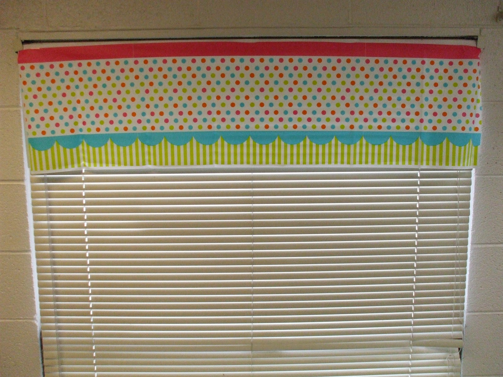 Welcome To First Grade Room 5 Cheap Valance Makeover