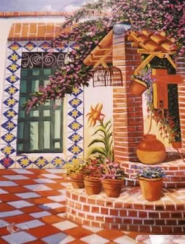 Cuadros modernos pinturas y dibujos cuadros de haciendas for Cuadros mexicanos rusticos