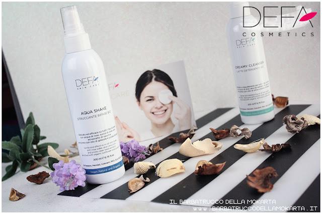 aqua shake review bifasico defa cosmetics bio  defa cosmetics  skin care bio cosmesi