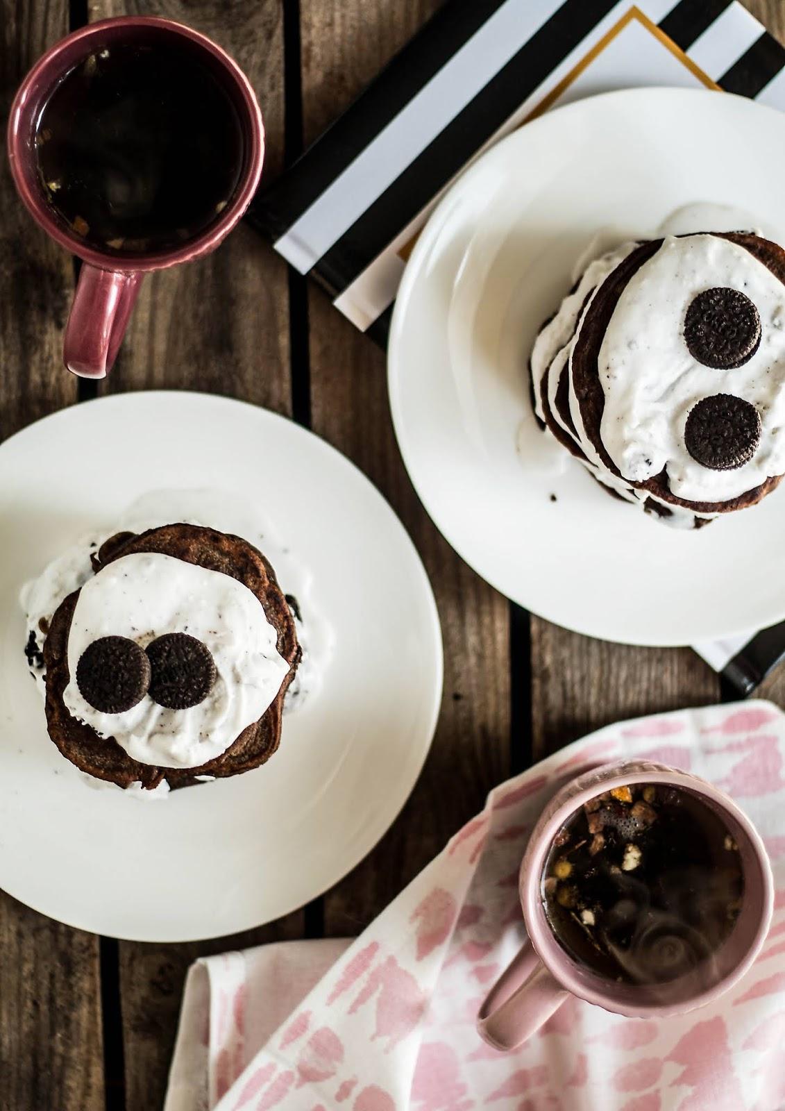Mniumniu Kuchnia Roślinna Wegańskie Oreo Pancakes