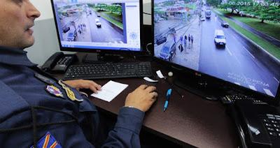 Câmeras das lojas integrada a Guarda Municipal de Campo Grande (MS)