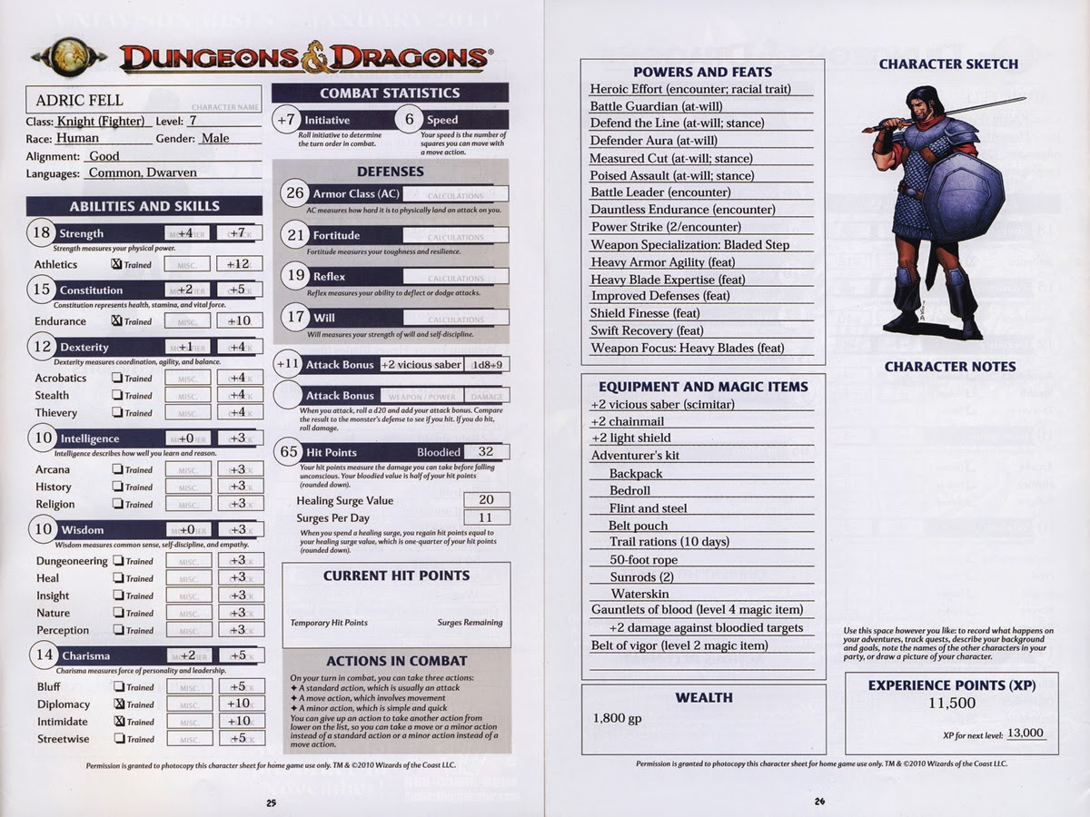 ad&d 2nd edition character sheet pdf