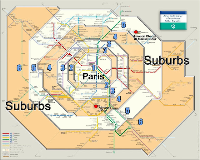 Zonas de tarifa do metrô de Paris