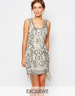 Frock and frill embellished dress with fringing, $250.71 from Asos